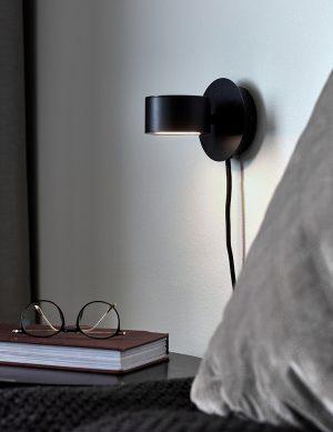 Applique ronde à lumière LED Clyde Nordlux noir