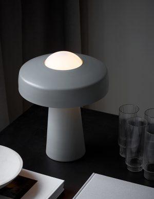 Lampe à poser champignon Time Nordlux gris
