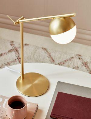 Lampe de bureau avec sphère en verre Contina Nordlux couleur or