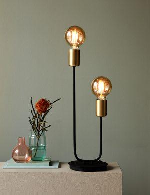 Lampes à poser à deux spots type ampoule Joséfine Nordlux noir