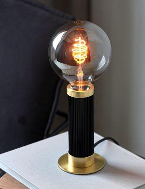 Lampe à poser ampoule unique Galloway Nordlux noir et or