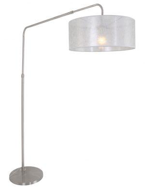 Grand lampadaire abat-jour voilé Gramineus Steinhauer acier