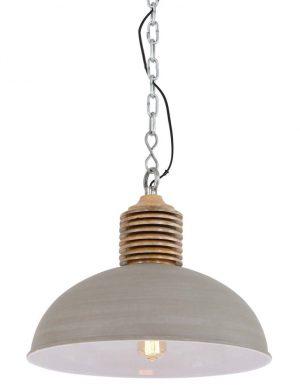 Grande lampe grise en suspension pour la cuisine-1216BE