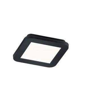 Plafonnier carré LED dimmable noir-1887ZW