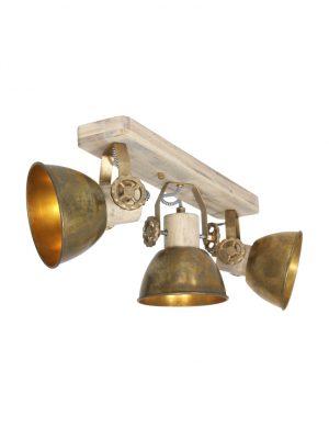 Plafonnier trois spots bronze-2133BR