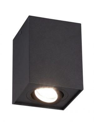 Plafonnier projecteur carré Biscuit de noir-2615ZW