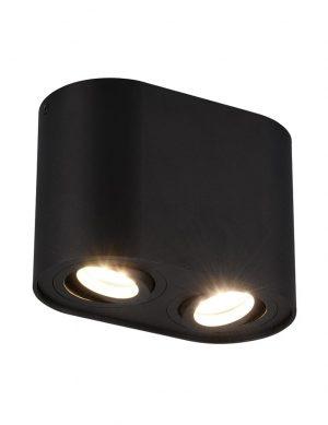Plafonnier avec double projecteurs noir-2628ZW