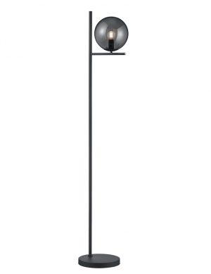 Lampadaire avec ampoule de verre noir-2643A