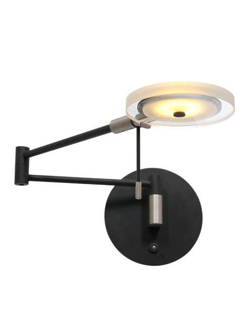 Applique LED abat-jour en verre noir-2733ZW