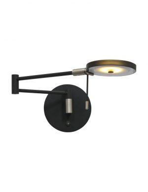 Applique LED abat-jour en verre noir-2734ZW