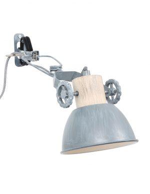 Lampe murale à pince nickel-2752GR
