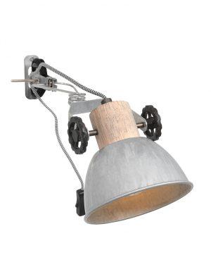 Lampe murale à pince nickel-2752NI