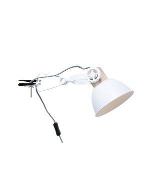 Applique scandinave blanc à pince-2752W