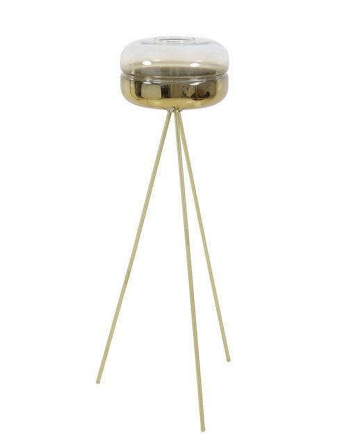 Lampadaire avec verre sur trépied or-2959GO