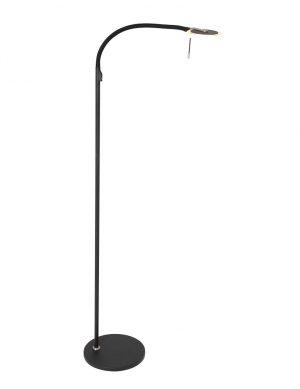 Lampe de lecture design noire verre transparent-2990ZW