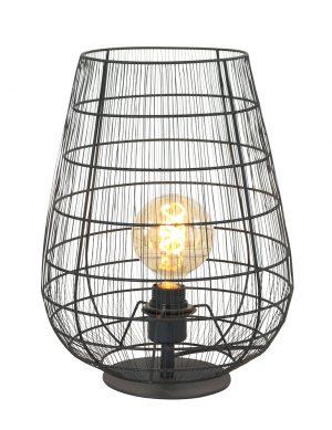 Lampe de table moderne fil de fer noir-3002ZW
