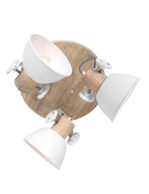 Plafonnier en bois à trois spots-3063W