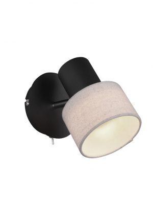 Applique moderne abat-jour beige noir-3135ZW