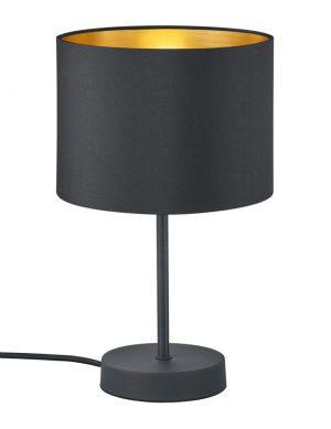 Lampe de table noire intérieur doré-3141ZW