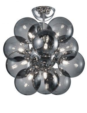 Plafonnier boules de verre fumé-3148CH