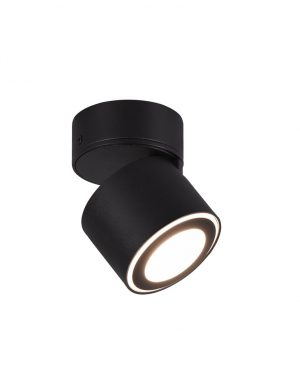 Plafonnier LED inclinable moderne Trio Leuchten Taurus noir-3167ZW