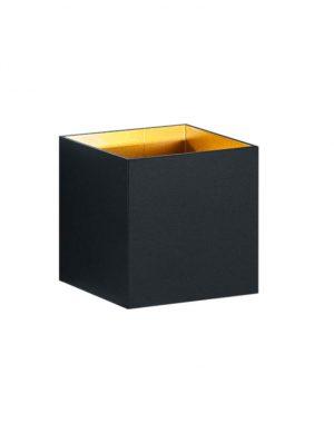 Spot mural noir LED carré lumière haute et basse-3173ZW