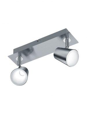Plafonnier double spot LED acier-3182ST