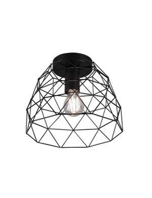 Plafonnier géométrique noir-3190ZW