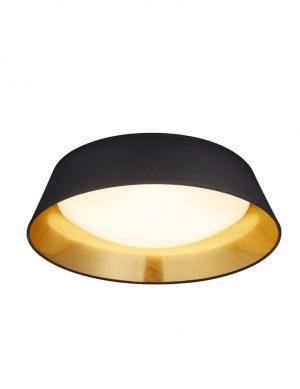 Abat-jour LED plafonnier doré noir-3202ZW