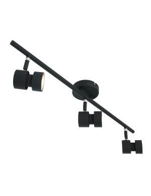 Plafonnier LED trois spots noir-7903ZW