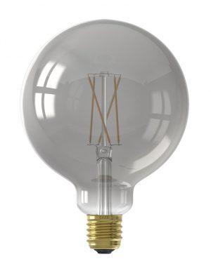 Ampoule ronde en verre fumé E27 7W Calex-I15264S
