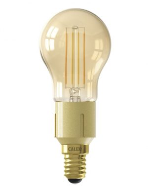 Ampoule intelligente avec base dorée E14 4.5W Calex-I15265S