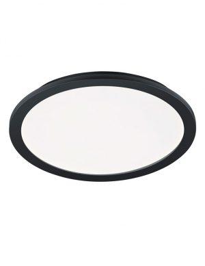 Plafonnier LED rond pour salle de bain noir-1886ZW