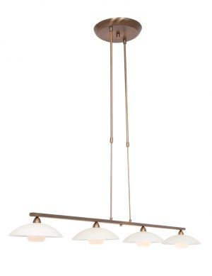 Lampe de table à manger quatre lumières en verre bronze-2743BR