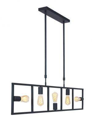 Lampe de table à manger cinq lumières noir-2981ZW