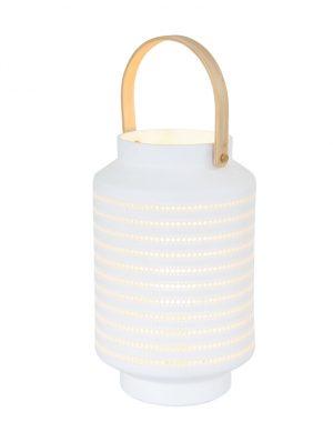 Lanterne blanche avec trous blanc-3058W