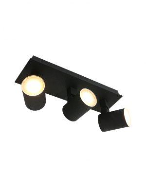 Spot de plafond LED trois lumières Noirs noir-3061ZW
