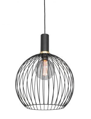 Suspension cage métal noir-3067ZW
