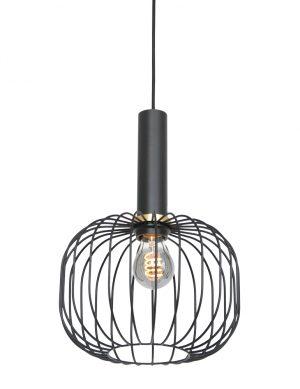 Lampe fil tendance avec détails dorés noir-3070ZW