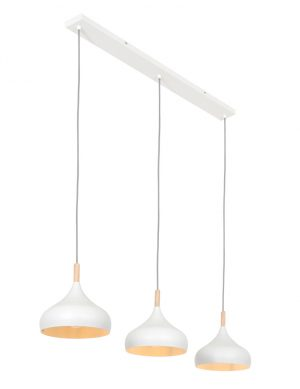 Lampe de table à manger scandinave à trois lumières blanc-3099W