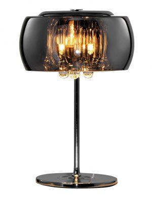 Lampe de table avec verre fumé et cristal chrome-3145CH