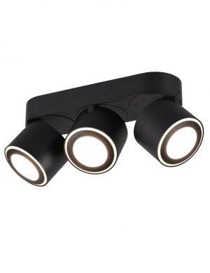 Trois spots avec deux anneaux noir-3169ZW