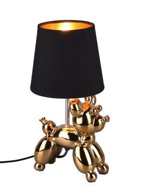 Ballon animal lampe de table chien noir et or-3208GO