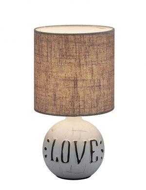 Lampe de table love avec abat-jour gris-3210GR