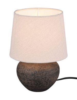 Lampe vase avec abat-jour beige marron-3212B