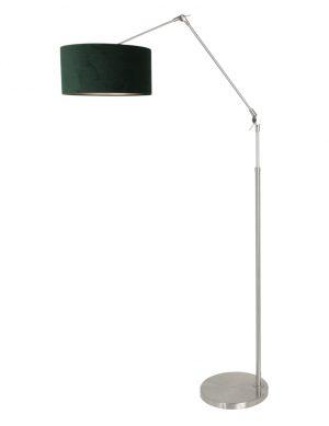 Lampadaire bras rabattable en acier abat-jour vert-8103ST