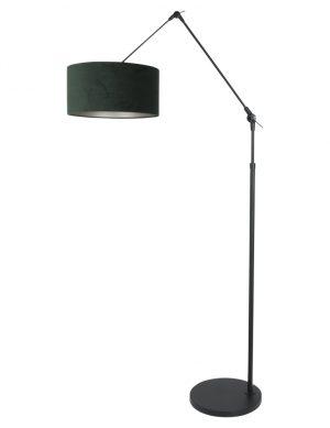 Lampadaire articulé abat-jour vert noir-8115ZW
