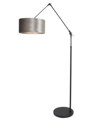 Lampe à arc articulée abat-jour gris noir-8116ZW