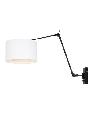 Applique pivotante et inclinable lin noir et blanc-8120ZW