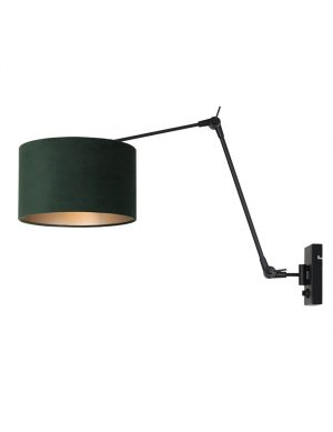 Applique orientable noir et vert-8121ZW